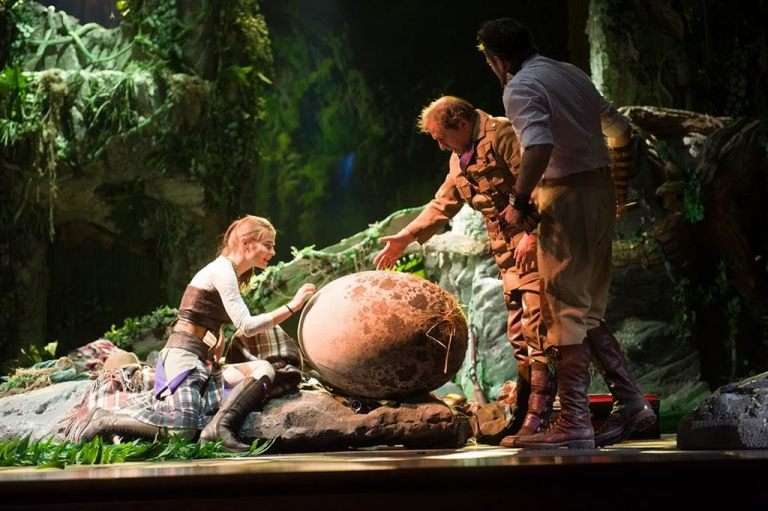 «The Lost World» Modern theater technology. Living dinosaurs