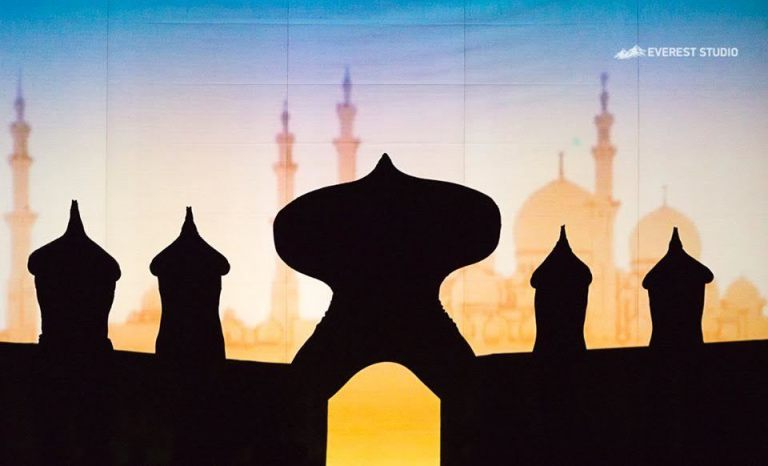 Shadow theatre with shows AladdinHerculesAlice in Wonderland