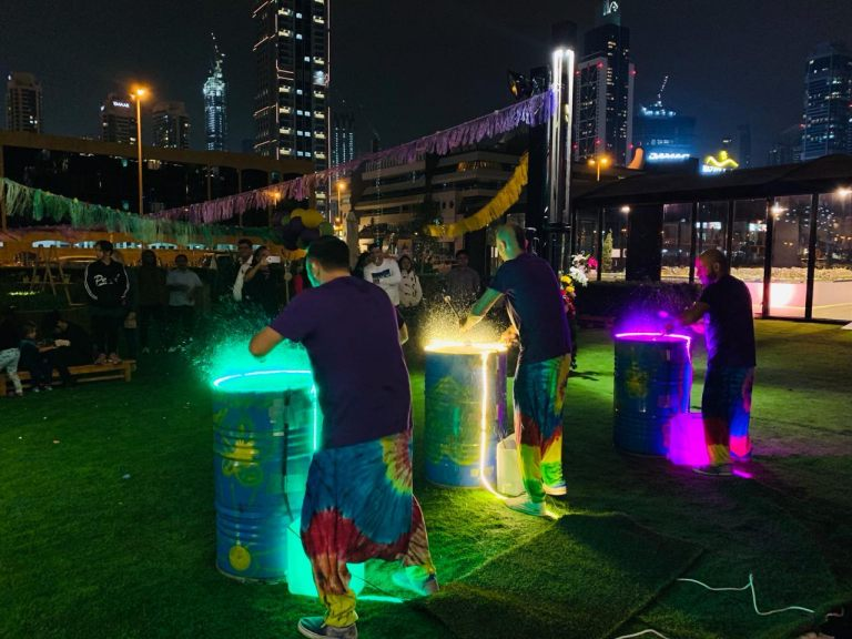 LED Water Drummers