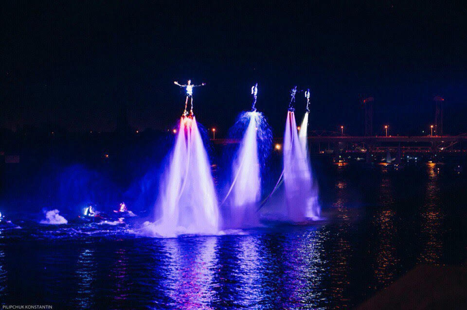 LED show on Flyboards